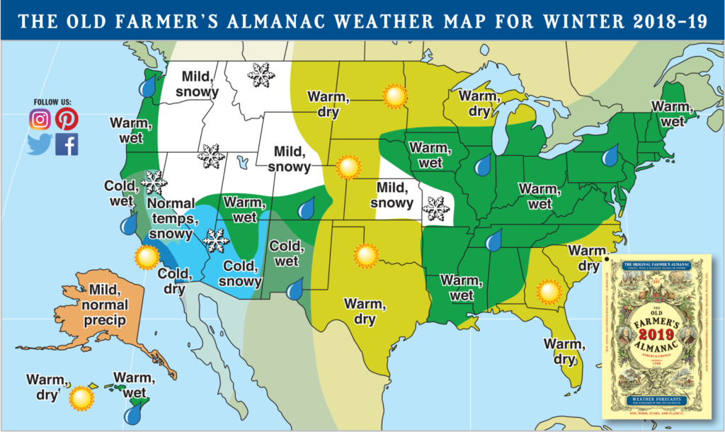 winter weather forecast by Farmers