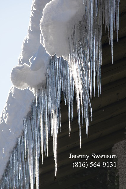 Icicles Dangers: Rooftop Snow Winter and -